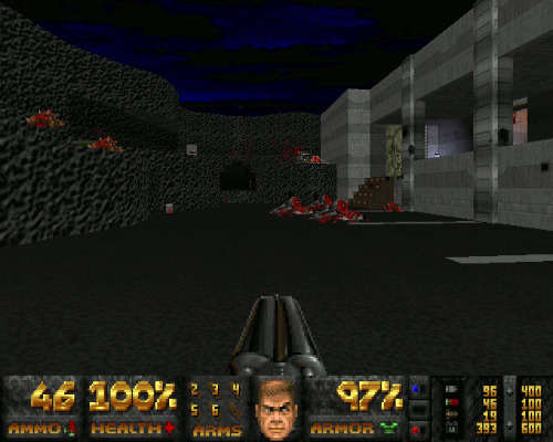 Screenshot Doom mit dem WAD Jenesis