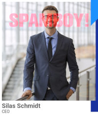 Detail aus der betrügerischen Website: Spamboy Silas Schmidt
