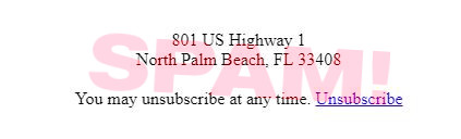 801 US Highway 1 -- North Palm Beach, FL 33408 -- You may unsubscribe at any time. [Unsubscribe]