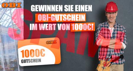 OBI -- Gewinnen sie einen OBI-Gutschein in Wert von 1000 € -- 1000 € Gutschein