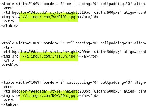 Screenshot vom Quelltext der Spam, in dem klar wird, dass die Bilder bei imgur.com gehostet werden