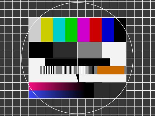 Das FuBK-Testbild, das man leider kaum noch im Fernsehen sieht