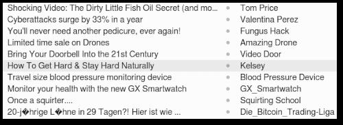 Screenshot eines kleinen Ausschnitts meines heutigen Spamaufkommens